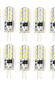 10 Pcs Trådbunden Others G4 24 led Sme3014 1.5W AC220-240 v 350 lm Warm White Cold White Double Pin Waterproof Lamp Övrigt