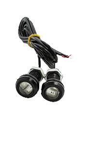LED ørnøye dagtid kjører DRL rygge lett tåke bil auto rød 12v 18mm 9W x 4