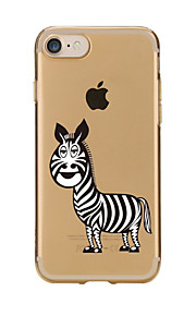 For Transparent Pattern Case Back Cover Case Cartoon Zebra for IPhone 7 7Plus iPhone 6s 6 Plus iPhone 6s 6 iPhone 5s 5 5E 5C