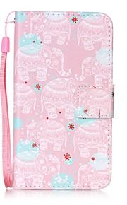 Per A portafoglio Porta-carte di credito Con supporto Con chiusura magnetica Fantasia/disegno Custodia Integrale Custodia Con elefante