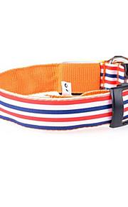 honden Kraag Verstelbaar/Uitschuifbaar Gestreept Meerkleurig Nylon
