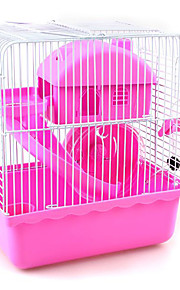 Rodents Cages Plastic Red Blue Brown