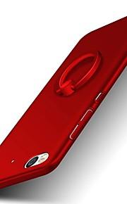 ל מחזיק טבעת מגן כיסוי אחורי מגן צבע אחיד קשיח PC ל XiaomiXiaomi Mi Max Xiaomi Redmi Note 4 Xiaomi Redmi Note 2 Xiaomi Mi 5S Xiaomi Mi 5s