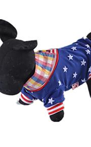 Perros Camiseta Multicolor Ropa para Perro Primavera/Otoño América / EE.UU. Casual/Diario