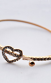 Bracelet Chain Bracelet Gold Heart Fashion Gift Valentine Jewelry Gift Gold,1pc