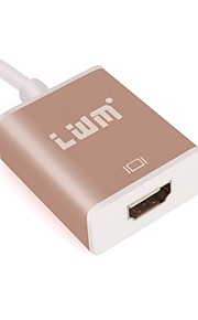lwm® usb3.1 type C til HDMI konverter kabel for macbook / Chromebook Pixel