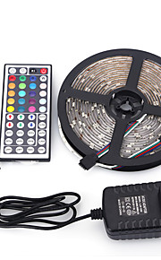 5m 5050 150 smd IP65 RGBW ac 100-240vwith 44 tasters fjernkontroll 12V 3A kraftforsyning stripe lys sett