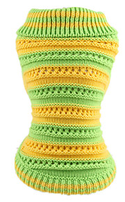 Dog Sweater Green Dog Clothes Winter Spring/Fall Stripe Cute Casual/Daily