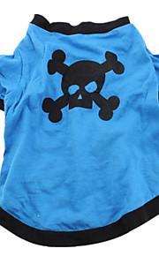 Hundar T-shirt Blå Hundkläder Sommar Enfärgat Gulligt Ledigt/vardag