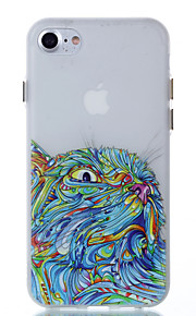 For Glow in the Dark Case Back Cover Case Owl Pattern Soft TPU for iPhone 7 Plus 7 6S Plus 6 SE 5