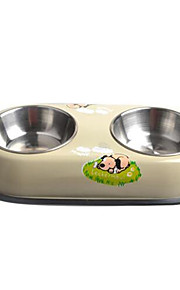 Dog Feeders Pet Bowls & Feeding Portable Yellow Stainless Steel
