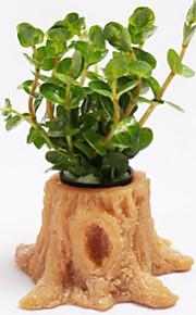 Akvarium Dekorasjon Stein Vannplante Giftfri og smakløs Resin Orange