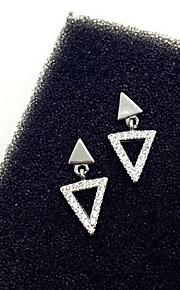Ikke-sten Stangøreringe Smykker Dame Daglig Afslappet Sølv 1 par Sølv