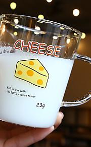Transparant Cartoon Glazen en bekers, 350 ml BPA gratis Glas Naakt Melk Theekoppen