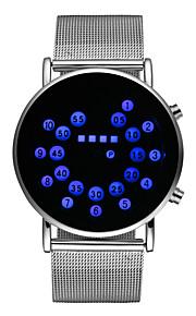 Masculino Relógio Esportivo Relógio de Moda Quartzo Couro Banda Prata marca