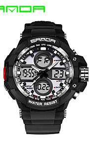 Masculino Relógio Esportivo Relógio Militar Relógio Inteligente Relógio de Moda Relógio de Pulso Digital Quartzo JaponêsLED Dois Fusos