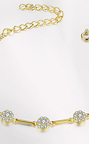 Chain Bracelet Alloy Flower Natural Fashion Gift Jewelry Gift 1pc