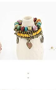 Bracelet Wrap Bracelet Wood Heart Handmade Halloween Jewelry Gift Yellow Blue,1pc