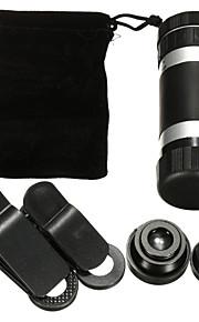 8 gange telefonen monokulære teleskop universal teleobjektiv vidvinkel makro fisk fiskeøje fire-i-en mobiltelefon linse