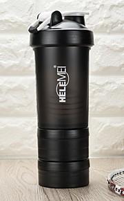 fitness glaspoeder proteïne shake van de gordel schaal sport cup cup met plastic beker milkshake beker