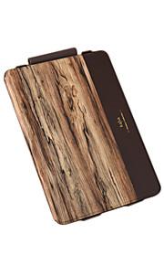 Pour Clapet Motif Coque Coque Intégrale Coque Apparence Bois Dur Cuir PU pour Apple iPad Pro 9.7 ''