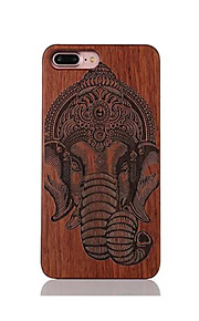 Para Antigolpes En Relieve Diseños Funda Cubierta Trasera Funda Elefante Dura Madera para AppleiPhone 7 Plus iPhone 7 iPhone 6s Plus/6
