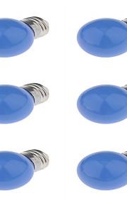 3W E27 LED 글로브 전구 G45 6 딥 LED 250 lm 레드 블루 옐로 장식 AC220 V 6개