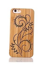 Pour Antichoc Relief Motif Coque Coque Arrière Coque Fleur Dur Bambou pour Apple iPhone 6s/6