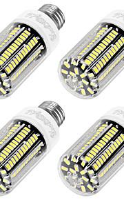 12W E26/E27 LED-kornpærer T 136 SMD 5733 1100 lm Varm hvit Dekorativ AC 220-240 V 4 stk.