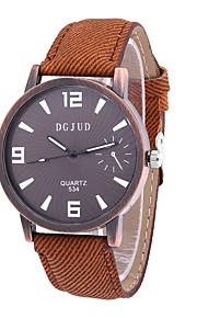Masculino Relógio Elegante Relógio de Moda Quartzo PU Banda Vintage Preta Branco Marrom marca