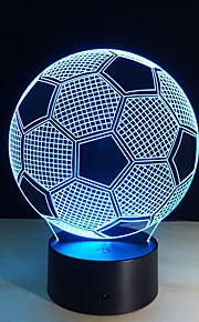 nova forma de futebol criativo 3d ilusão 7colors luz noite mutáveis para a decoração do quarto