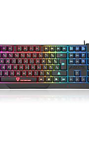 kontors tangentbord USB Multi färg bakgrundsbelysning Motospeed