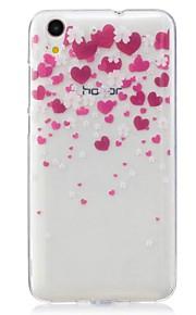 Voor Ultradun Patroon hoesje Achterkantje hoesje Hart Zacht TPU voor Huawei Huawei Honor 5C