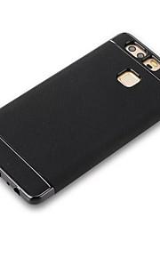 Voor Beplating hoesje Achterkantje hoesje Effen kleur Zacht TPU voor Huawei Huawei P9 Huawei P9 Lite Huawei P8 Lite