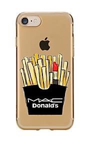 För Genomskinlig Mönster fodral Skal fodral Tecknat Mjukt TPU för AppleiPhone 7 Plus iPhone 7 iPhone 6s Plus/6 Plus iPhone 6s/6 iPhone