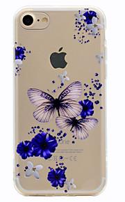 Para Diseños Funda Cubierta Trasera Funda Mariposa Suave TPU para Apple iPhone 7 Plus iPhone 7