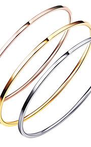 Armbånd Armbånd Rustfrit Stål Rund form Mode Bryllup Fest Speciel Lejlighed Halloween Fødselsdag Forlovelse Julegaver Smykker GaveGylden