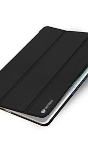 För Automatiskt sömn-/uppvakningsläge Origami fodral Heltäckande fodral Enfärgat Hårt PU-läder för Apple iPad Air 2