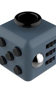 Brinquedos Cubo Macio de Velocidade Cube Fidget Novidades Alivia Estresse Cubos Mágicos Preta Cinzento / Plástico