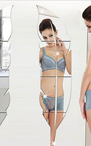 Romantik fritid Veggklistremerker 3D Mur Klistremerker Veggklistremerker i Speilstil Dekorative Mur Klistermærker Bryllups klistermærker,