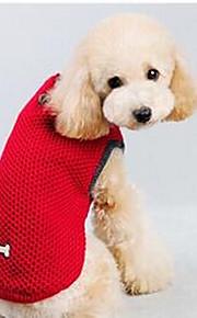 Собаки Плащи Красный Синий Одежда для собак Зима Однотонный На каждый день Спорт