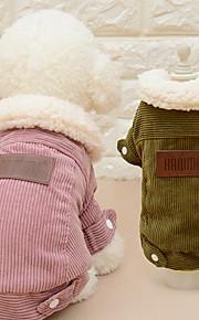 Katte Hunde Frakker Hundetøj Vinter Forår/Vinter Ensfarvet Mode Afslappet/Hverdag Kaffe Lys pink