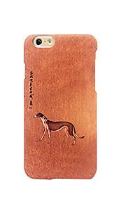 För Frostat Läderplastik Mönster fodral Skal fodral Hund Hårt PC för AppleiPhone 7 Plus iPhone 7 iPhone 6s Plus/6 Plus iPhone 6s/6 iPhone