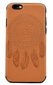 Para En Relieve Diseños Funda Cubierta Trasera Funda Atrapasueños Suave Cuero Sintético para AppleiPhone 7 Plus iPhone 7 iPhone 6s Plus