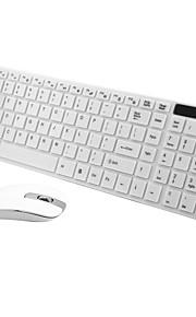 2.4ghz ultra-delgado teclado inalámbrico y ratón óptico kit combinado con receptor USB y el cine teclado para ordenador PC