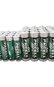 pkcell R03P aaa R6P aa pile sèche 1.5v 40 pack