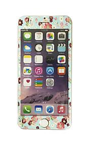 עבור Apple iPhone 6 / 6s 4.7 אינץ זכוכית מחוסמת עם דפוס פרחי מגן מסך קדמי כיסוי מסך מלא קצה רך