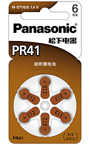 Panasonic PR-41CH Button Cell Lithium Battery 1.4V 6 Pack