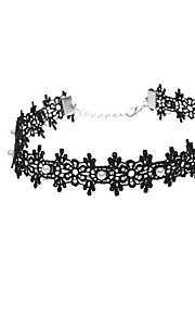 Necklace Imitation Pearl Choker Necklaces Jewelry Daily Casual Flower Euramerican Fashion Personalized Imitation Pearl Lace 1pc GiftBlack