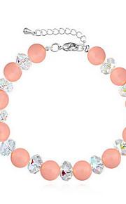 Armbånd Kæde & Lænkearmbånd Perle Cirkelformet Natur Smykker Gave Hvid Lilla Pink,1 Stk.